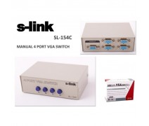 S-Link SL-154C 4 Port Vga Switch